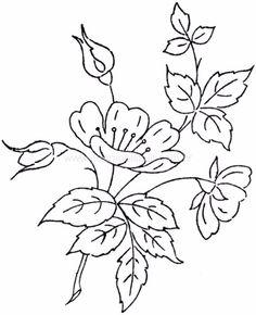 vintage transfer patterns for embroideryvintage hand embroidery patterns Hand Embroidery Patterns Free, Hand Embroidery Flowers, Hand Work Embroidery, Embroidery Motifs, Embroidery Transfers, Vintage Embroidery, Flower Line Drawings, Crochet, Vintage Modern