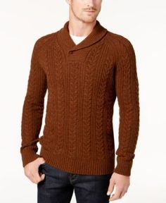 Barbour Men's Galloway Cable Sweater - Orange XXL