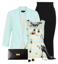 """""""Budget Blazer Contest"""" by kginger ❤ liked on Polyvore featuring Miss Selfridge…"""