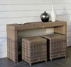 Trendy Ideas For Basket Woven Wicker Hallway Furniture, Wicker Furniture, Home Decor Furniture, Newspaper Basket, Newspaper Crafts, Upcycled Home Decor, Diy Home Decor, Rattan, Traditional Baskets