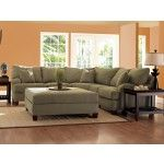 Klaussner - Canyon Sectional Sofa in Celadon Microsuede - CANYONSECTCELADON  SPECIAL PRICE: $1,639.00