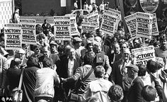 """striking miners in Britain, March 1984.  I read about it in """"Children of the Revolution"""" by Peter Robinson"""