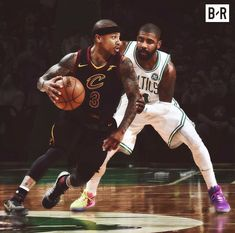 Isaiah Thomas Cleveland Cavaliers and Kyrie Irving Boston Celtics