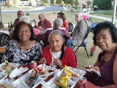 Ushering in the fall season and enjoying a chance to intermingle with families and other residents, the seniors of  RRV and RHC gathered under the pavilion for a cookout with brats, chips, drinks and dessert, while listening to the  music stylings of Shady Grady.