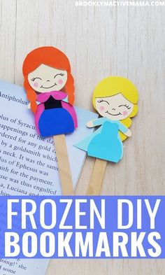 This fun craft is great for kids! Create a DIY Ana and Elsa bookmark from the Frozen franchise to use for daily reading! This craft is perfect for kids and preschoolers. Disney Activities, Craft Activities For Kids, Preschool Crafts, Bookmark Craft, Bookmarks Kids, Summer Crafts For Toddlers, Toddler Crafts, Disney Frozen Crafts, Frozen Disney