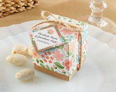 """Vintage Floral"" Favor Box"