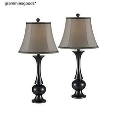 Table-Lamp-Set-Lamps-Bronze-Table-Desk-Nightstand-Home-Office-Lighting-Pair-New