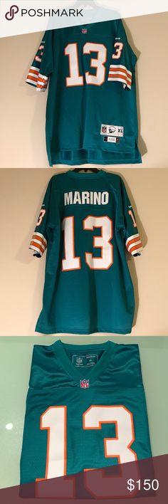 980f6a2cf53 ... Authentic mitchell ness dan marino jersey (1984) NWT Dan Marino 13 Miami  Dolphins Mens Throwback ...