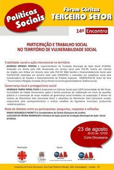Fórum do Terceiro Setor em Jundiaí. (Alavanca Social / Instituto Sabedoria / R2 Creative: promovendo soluções em organizações sociais)