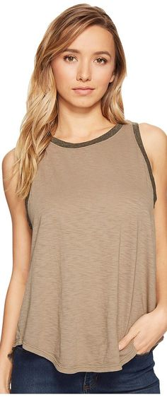 Michael Stars Ringer Swing Tank Top (Olive Moss) Women's Sleeveless - Michael Stars, Ringer Swing Tank Top, 8917-317, Apparel Top Sleeveless, Sleeveless, Top, Apparel, Clothes Clothing, Gift - Outfit Ideas And Street Style 2017