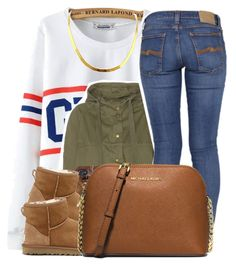 """""""1/30/16"""" by lookatimani ❤ liked on Polyvore featuring Chicnova Fashion, Current/Elliott, Nudie Jeans Co., UGG Australia and MICHAEL Michael Kors"""