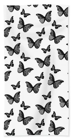 Black And White Butterfly Glam Towel (Beach Towel x by Anita Bella Jantz. Our towels are great. White Wallpaper For Iphone, Butterfly Wallpaper Iphone, Iphone Wallpaper Tumblr Aesthetic, Black Aesthetic Wallpaper, Aesthetic Wallpapers, Cute Black Wallpaper, White Pattern Wallpaper, Cool Wallpapers Black And White, Black Walpaper