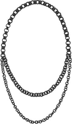 Rutheniumplated Necklace - Lyst
