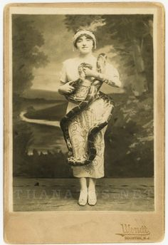 Bertha Hillier a snake charmer who later went on to perform in Ringling Brothers Barnum and Bailey Circus.
