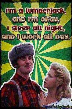 Monty Python Michael Palin Lumberjack
