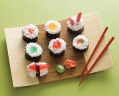 April Fool's Day!  Sweet sushi! #homeschool