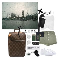 """""""I'm going to London and family......  """" by remooooo ❤ liked on Polyvore featuring River Island, Topshop, adidas, Linea Pelle, Charlotte Russe, Thom Browne, Royce Leather, Louis Vuitton and Fendi"""
