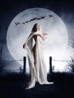Thanks to, Moon Goddess Love Moon, Fantasy Photography, Moon Goddess, Goddess Pagan, Beautiful Moon, Funny Tattoos, Angel Art, Gothic Art, Moon Art