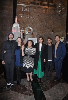 Zendaya and the cast of 'The Greatest Showman' at the Empire State Building in NYC 12/9/17