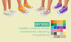 Yikes, my first TS4 cc post! Please do let me know if I've messed anything up :) • 30 recolours of madlen cosette shoes • female teen-elder • mesh from here is required • @nookstones vibrancy extended palette (♥!!) and 8 patterns • apologies for the...