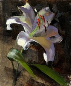 First Lily, painting by artist Qiang Huang