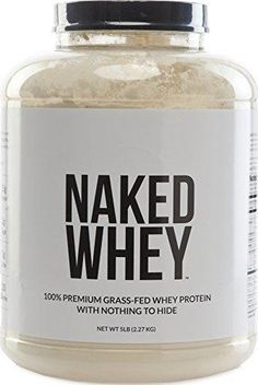 NAKED WHEY 5LB #1 Undenatured 100% Grass Fed Whey Protein Powder - US Farms Bulk Unflavored - GMO Soy and Gluten Free - No Preservatives - Stimulate Muscle Growth - Enhance Recovery - 76 Servings