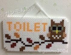 Owl Toilet sign perler beads