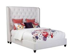 Beautiful tufted headboard. Elegant, contemporary design. Meet our Rosalind Haven Bed.
