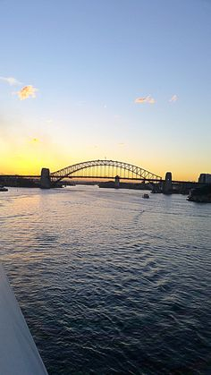 Sailing away from the Sydney Harbour bridge, what a gorgeous view! Sail Away, Sydney Harbour Bridge, Opera House, Sailing, Places To Visit, Australia, Beach, Water, Travel