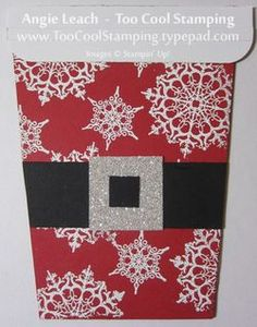 Santa Coffee Cup Gift Card Holders & Classes Reminders - Too Cool Stamping Diy Christmas Cards, Holiday Cards, Christmas Crafts, Christmas Recipes, Christmas Bazaar Ideas, Holiday Ideas, Gift Cards Money, Scrapbook Paper Crafts, Scrapbooking Ideas