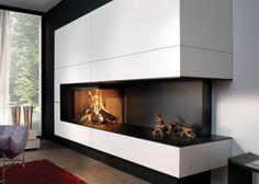 Τζάκι: Η επιλογή, το στιλ, η διακόσμηση Foyers, Modern Fireplace, Fireplace Ideas, Wood Burner, Cozy Corner, Decoration, Sweet Home, New Homes, Pure Products