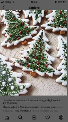 Cookies For Kids, Fancy Cookies, Christmas Cookies, Icing For Gingerbread Cookies, Paint Cookies, Galletas Cookies, Christmas Love, Christmas Kitchen, Cookie Decorating