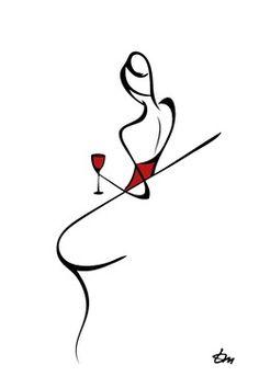 #wine art - Tatyana Markovtsev Beso de Vino