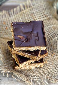 dark choc oat almond shortbread