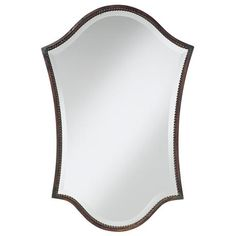 I like the unusual shape of this mirror too - might be cool above a rounded bombe chest