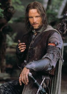 Viggo Mortensen as Aragorn in The Lord of the Rings Trilogy.