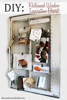 Keep all of your inspiration in one place with this reclaimed window DIY. See how now!