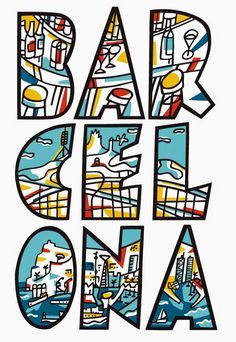 Poster of Barcelona 1979 by Barcelona based designer Javier Mariscal (b. Valencia, Spain 1950). TICK