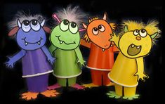 """""""CLICK ON THE LINKS FOR MONSTER FUN!"""" CLICK ABOVE TO MAKE THESE MONSTER PUPPETS ..."""