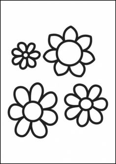 Coloring page Flowers img Coloring page Flowers img The post Coloring page Flowers img appeared first on Knutselen ideeën. Colouring Pics, Flower Coloring Pages, Coloring Books, Kids Silhouette, Rug Hooking Designs, Drawing Wallpaper, Free Coloring Sheets, Wood Burning Patterns, Flower Doodles
