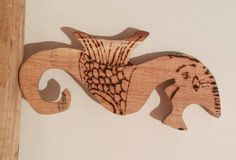 Wooden hippocampus Toy Sea Horse Sea Animal Toy Woodland