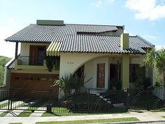 Fotos de telhados casas simples e pequenas | Decorando Casas Exterior Design, Home Goods, Home Improvement, House Plans, Sweet Home, Villa, Architecture, Outdoor Decor, Home Decor
