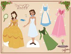 Free printable Belle paper dolls by Cory Jensen