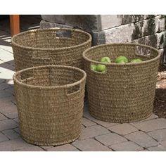 Round Seagrass Baskets, Set of Three on bellacor
