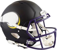 Riddell Minnesota Vikings Black Matte Alternate Speed Full-Size Pro-Line  Helmet  FootballHelmet  sportsmemorabilia  autograph 8dcb27cbc