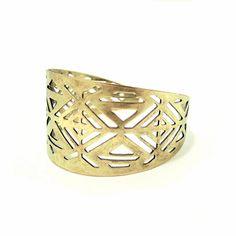 Bronze Ethnic Hand Cuff