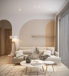 Interior Design Living Room, Living Room Designs, Living Room Decor, Home Building Design, Home Room Design, Living Room Inspiration, Behance, Interiors, Couple Room