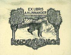 [Ex libris A. H. Linnander] by Stifts- och landsbiblioteket i Skara, via Flickr