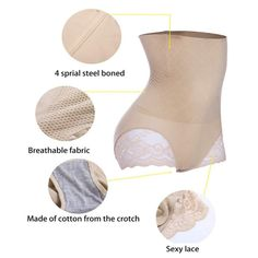 0e3463cefa4 AOBRITON Sexy Women Shaper Lace Control Panties High Waist Body Trainer  Butt Lifter Panties Ladies Tummy Girdle Shaperwear    Want to know more