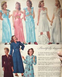 1940s satin nightgowns and pajamas Baby Doll Nighties 5d90682cf